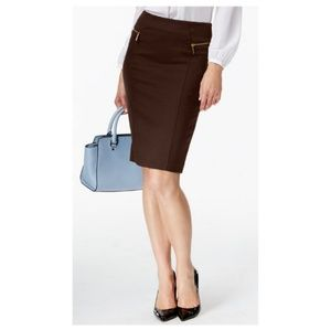 Michael kors Black Zipper Skirt